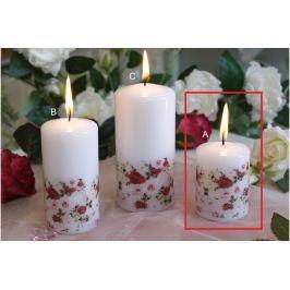 Lima Růže svíčka bílá válec 50 x 70 mm 1 kus