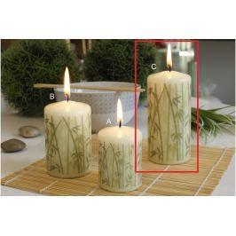 Lima Bambus svíčka slonová kost válec 60 x 120 mm 1 kus