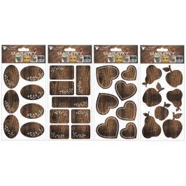 Samolepka popisovací imitace dřeva 21 x 12 cm