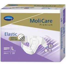 MoliCare Premium Elastic 8 kapek L 110-150 cm zalepovací plenkové kalhotky pro střední až těžký stupeň inkontinence 24 kusů