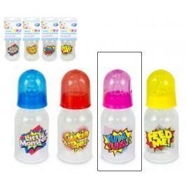 First Steps Slogan kojenecká láhev 0+ růžová 150 ml