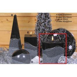 Lima Artic svíčka černá elipsa 110 x 125 mm 1 kus