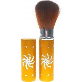 Kosmetický štětec na pudr s krytkou zlatý 8,5 cm 30350