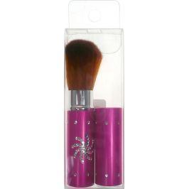 Kosmetický štětec na pudr s krytkou růžový 8,5 cm 30350