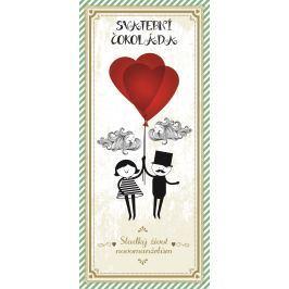 Bohemia Gifts Mléčná čokoláda Svatba svatební, dárková 100 g