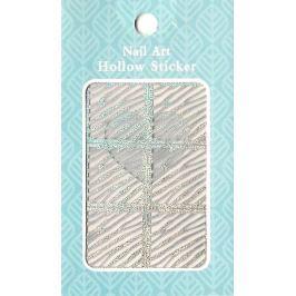 Nail Accessory Hollow Sticker šablonky na nehty multibarevné čáry 1 aršík 129