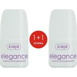 Ziaja Elegance Creamy kuličkový antiperspirant deodorant krémový roll-on pro ženy 2 x 60 ml, duopack