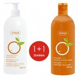 Ziaja Pomerančové máslo hydratační tělové mléko 400 ml + sprchový gel 500 ml, duopack Tělová mléka