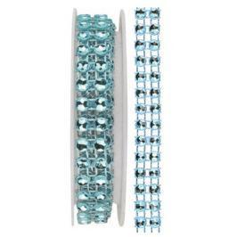 Řetěz světle modrý, dekorační 1 x 75 cm