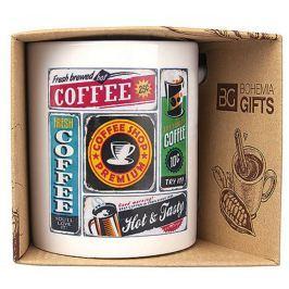 Bohemia Gifts & Cosmetics Keramický hrnek s potiskem Coffee - retro 350 ml