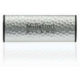 Millefiori Milano Icon Green Fig & Iris - Zelený fík a kosatec Vůně do auta Metal stříbrná voní až 2 měsáce 47 g