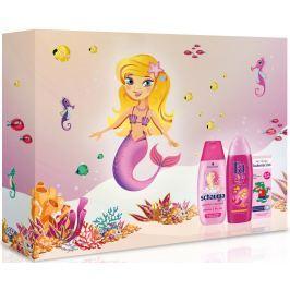 Fa Kids Girls sprchový gel 250 ml + Schauma Kids šampon na vlasy pro děti 250 ml + Vademecum My Little s jahodovou příchutí zubní pasta 50 ml, kosmetická sada