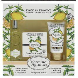 Jeanne en Provence Verveine Cédrat - Verbena a Citrusové plody parfémovaná voda pro ženy 60 ml + toaletní mýdlo mýdlo 100 g + krém na ruce 75 ml kosmetická sada