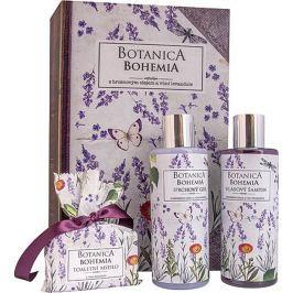 Bohemia Gifts Botanica Levandule sprchový gel 200 + šampon na vlasy 200 ml + toaletní mýdlo 100 g, kniha kosmetická sada