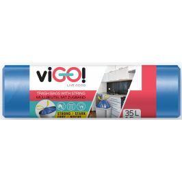 viGO! Sáčky do odpadkového koše zatahovacího modré 35 litrů 50 x 60 cm 15 kusů