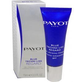 Payot Blue Techni Liss Regard vyhlazující gelový krém s kovovým aplikátorem a štítem proti modrému světlu 15 ml
