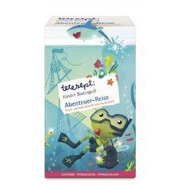 Tetesept Dobrodruh sprchový gel a šampon 250 mll + Lovci pokladů koupelová koule s překvapením 140 g + Sopka mořská sůl 50 g kosmetická sada koupelových produktů pro děti