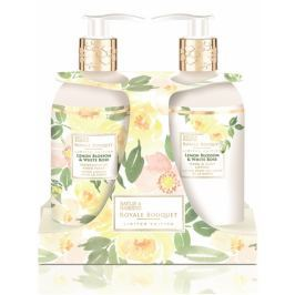 Baylis & Harding Citrónové květy a Bílá růže tekuté mýdlo 300 ml + mléko na ruce 300 ml, kosmetiská sada
