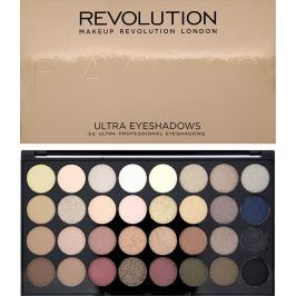 Makeup Revolution Ultra Eyeshadows paletka 32 očních stínů Flawless 16 g