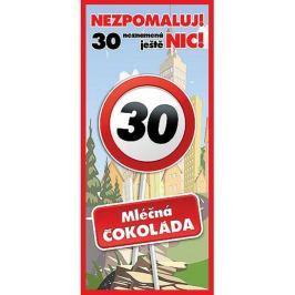 Bohemia Gifts & Cosmetics Mléčná čokoláda Vše nejlepší 30, dárková 100 g