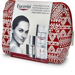 Eucerin Hyaluron-Filler noční obnovující a vyplňující sérum 30 ml + DermatoClean 3v1 micelární čisticí voda 200 ml + etue, kosmetická sada Kosmetické sady