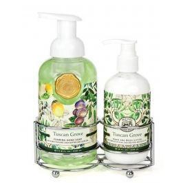 Michel Design Works Ráj Toskánska pěnící tekuté mýdlo na ruce 530 ml + mléko na ruce a tělo 236 ml, kosmetická sada