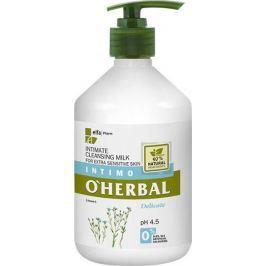 O Herbal Delicate Len čisticí mléko pro intimní hygienu 500 ml