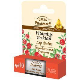 Green Pharmacy Vitamins Cocktail - Vitamíny z brusinek a jojobový olej balzám na rty 3,6 g