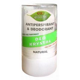 Bione Cosmetics Bio Natural Deo Krystal antiperspirant deodorant kolíček unisex 120 g kamenec má mnoho využití: po holení, štípnutí hmyzem, proti pocení, popálení pokožky, zastavuje krvácení