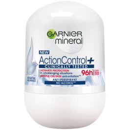 Garnier Mineral Action Control + Clinically Tested kuličkový antiperspirant deodorant roll-on pro ženy 50 ml