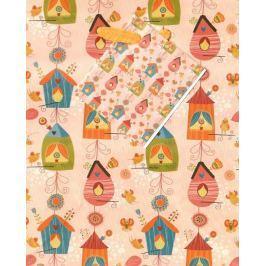 Nekupto Dárková papírová taška malá 14 x 11 x 6,5 cm Ptačí budky 1732 01 KFS