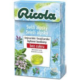 Ricola Svěží alpský švýcarské bylinné bonbóny bez cukru s vitamínem C z 13 bylin 40 g