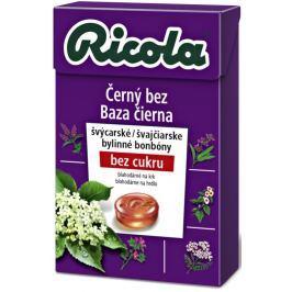 Ricola Černý bez švýcarské bylinné bonbóny bez cukru s vitamínem C z 13 bylin 40 g