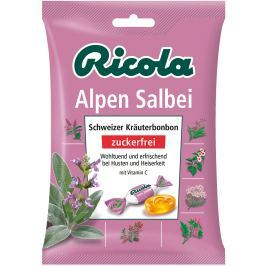 Ricola Salbei - Šalvěj švýcarské bylinné bonbóny bez cukru s vitamínem C z 13 bylin, proti zánětu dutiny ústní, horečce a chrapotu 75 g