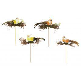 Ptáček s hnízdem zápich 14 cm + špejle 1 kus