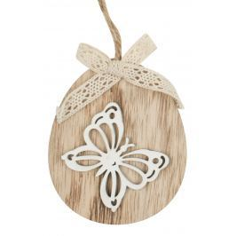 Motýl oválek k zavěšení dřevěný 11 cm
