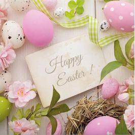 Aha Velikonoční papírové ubrousky 3 vrstvé 33 x 33 cm 20 kusů Happy Easter!
