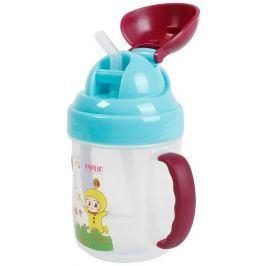Baby Farlin Magic Cup hrníček netekoucí se slámkou 9+ měsíců 200 ml AET-CP011-C
