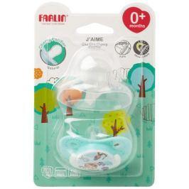 Baby Farlin Chu Chu Cherry Pacifier silikonové šidítko 0+ měsíců modré