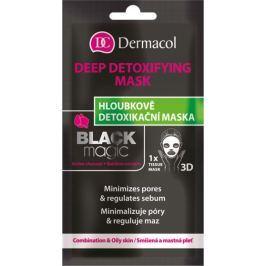 Dermacol Black Magic Textilní detoxikační maska 15 ml
