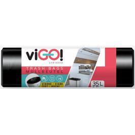 viGO! Pytle na odpad černé 35 litrů 50 x 60 cm 15 kusů