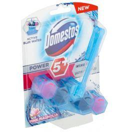 Domestos Power 5+ Blue Water Pink Magnolia Wc tuhý blok 53 g