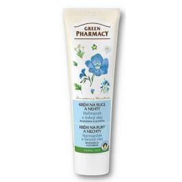 Green Pharmacy Heřmánek a Lněný olej regenerace + ochrana krém na ruce a nehty100 ml