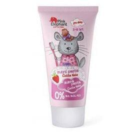 Pink Elephant Činčila Nela s příchutí jahod zubní pasta pro děti 50 ml