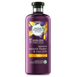 Herbal Essences Nourish Passion Flow & Rice Milk Šampon s mučenkou a a rýžovým mlékem, pro vyživené vlasy, bez parabenů 400 ml