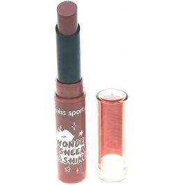 Miss Sporty Wonder Sheer & Shine Lipstick rtěnka 110 Rosewood Wash 1 g