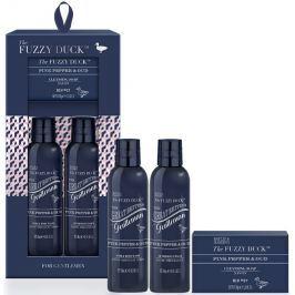 Baylis & Harding The Fuzzy Duck Růžový pepř a Agarwood 2v1 šampon a sprchový gel 240 ml + balzám po holení 240 ml + toaletní mýdlo 100 g, kosmetická sada pro muže