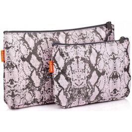 Diva & Nice Kosmetická kabelka růžová/černá malá 19 x 14 cm, velká 29 x 19 cm, sada 2 kusů 90119