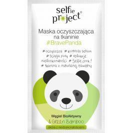 Selfie Project BravePanda čisticí textilní pleťová maska 15 ml