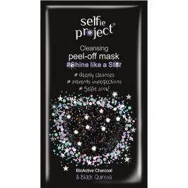 Selfie Project Čistící slupovací hvězdná pleťová peel-off maska, zářivá jako hvězdy 12 ml